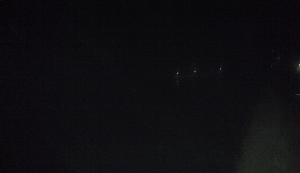 tja, genau so viel sahen auch wir, am Ufer wartend...