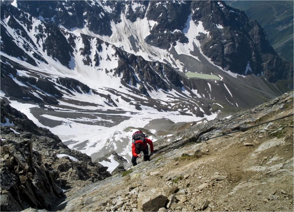 steiler Abschnitt auf dem Normalweg