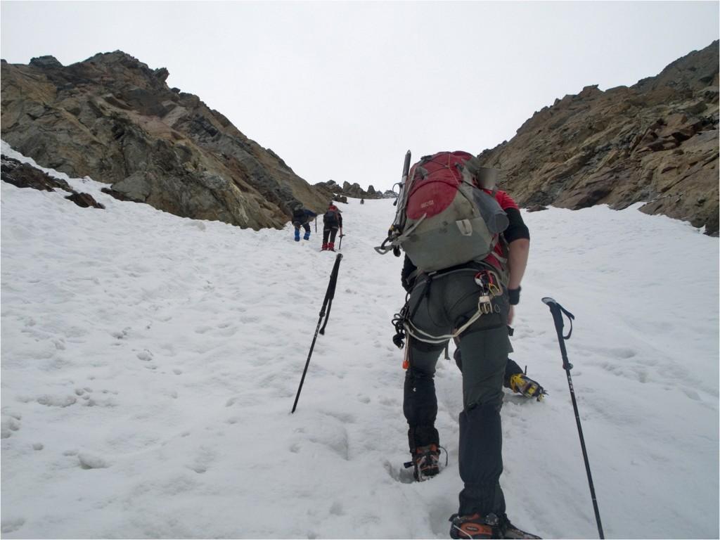 Stau auf dem Wildspitze-Normalweg (wir müssen auch erst zum Mittelkar...)