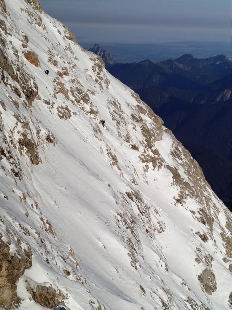 Höllentalsteig in Eiger-Nordwand-Look