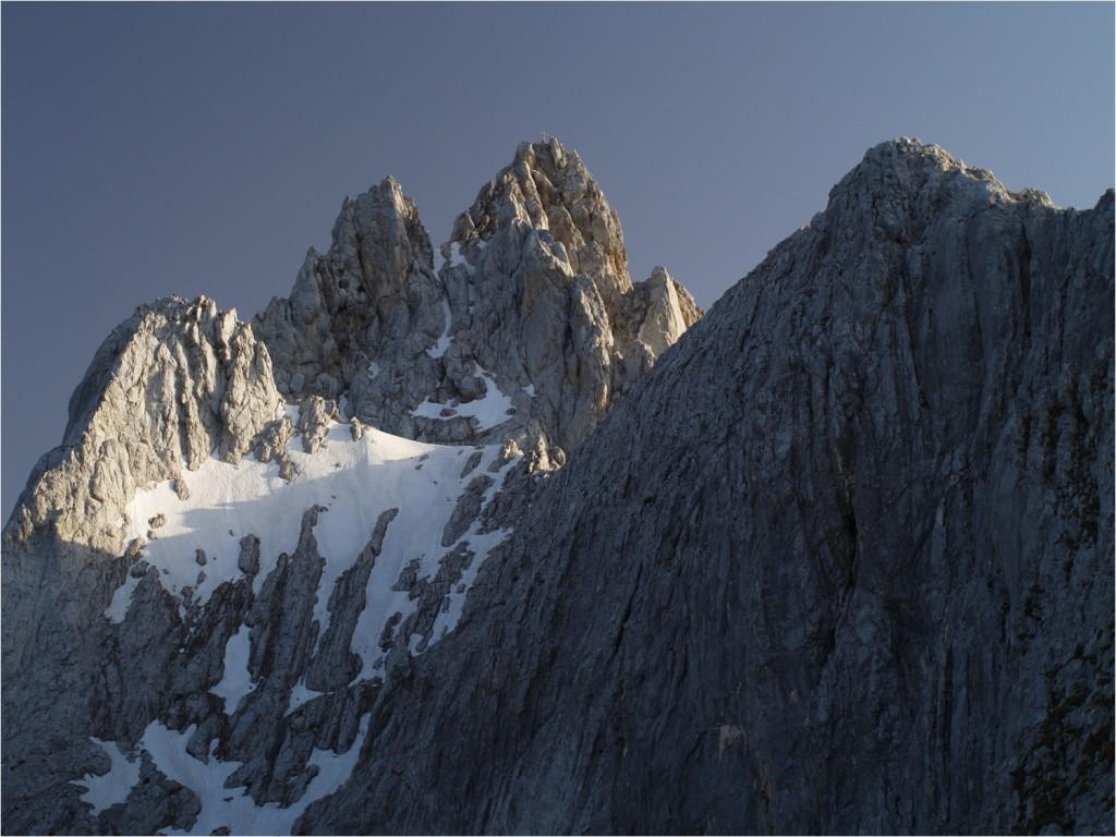 """""""unser"""" Gipfel in der Abendsonne"""