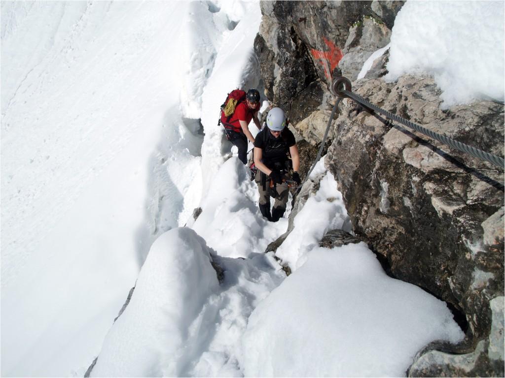 Klettersteigeinstieg
