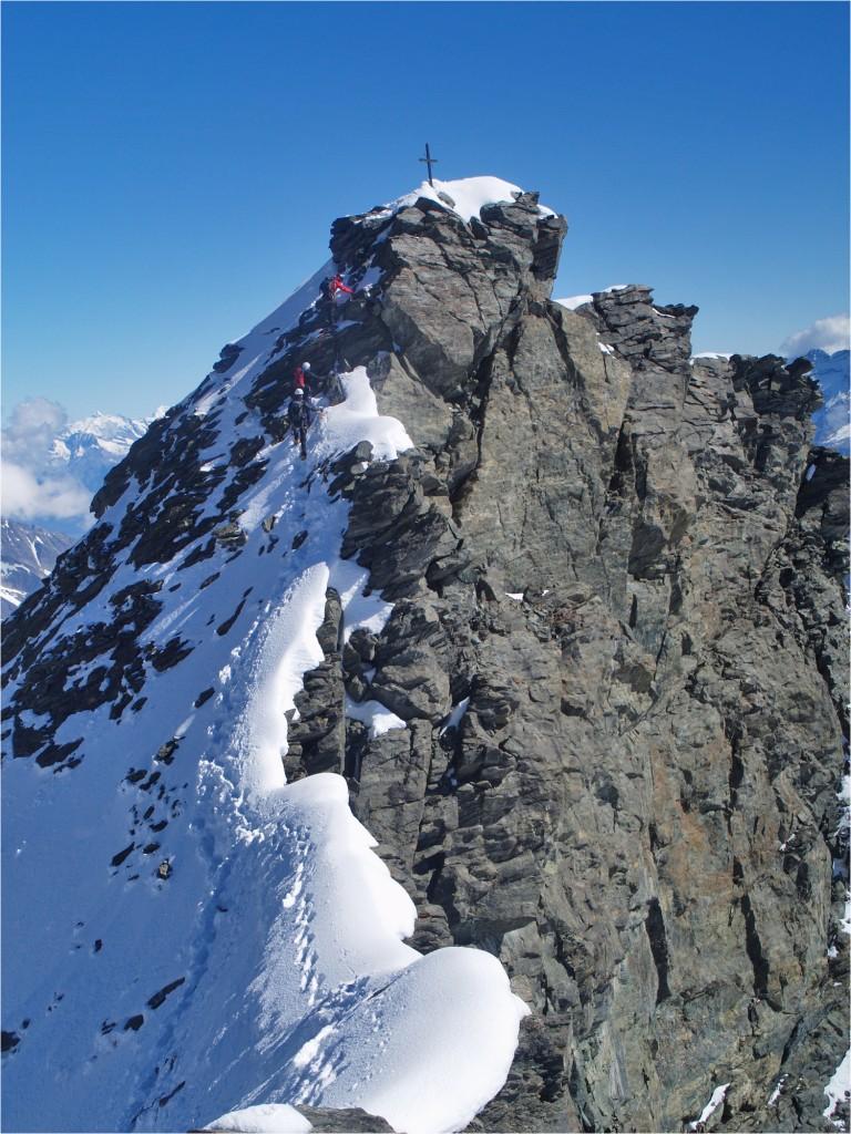 Rimpfischhorn, Hauptgipfel (4198m)