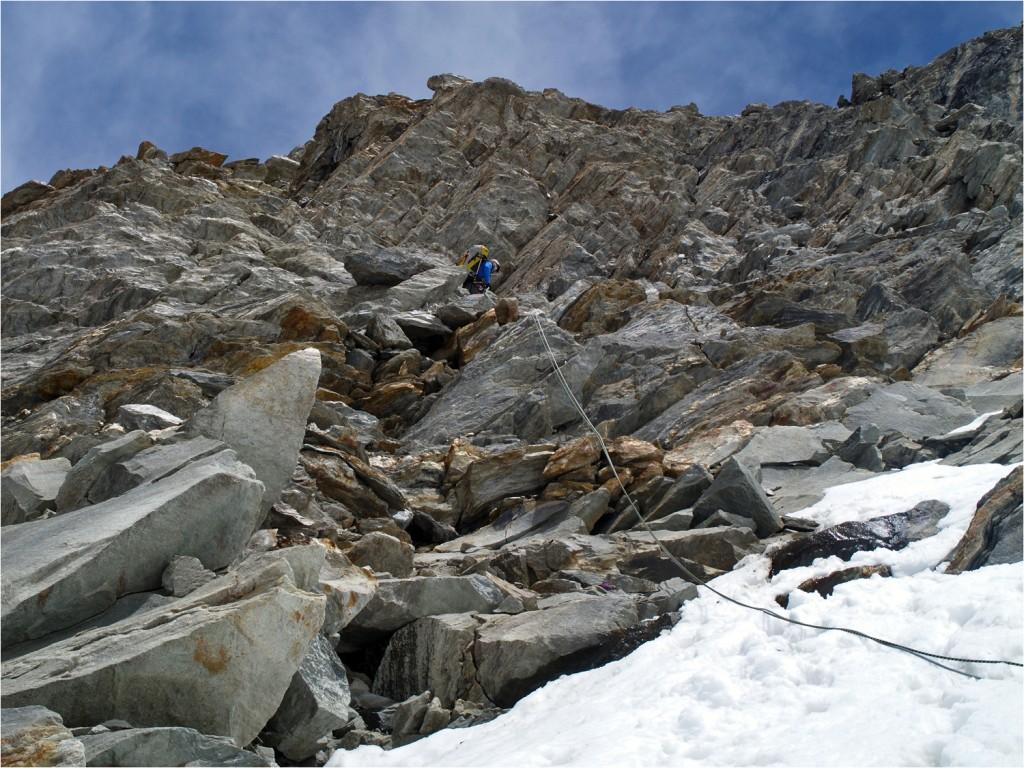 Felssteilstufe, oberhalb derer wir zwei Stunden gesessen sind