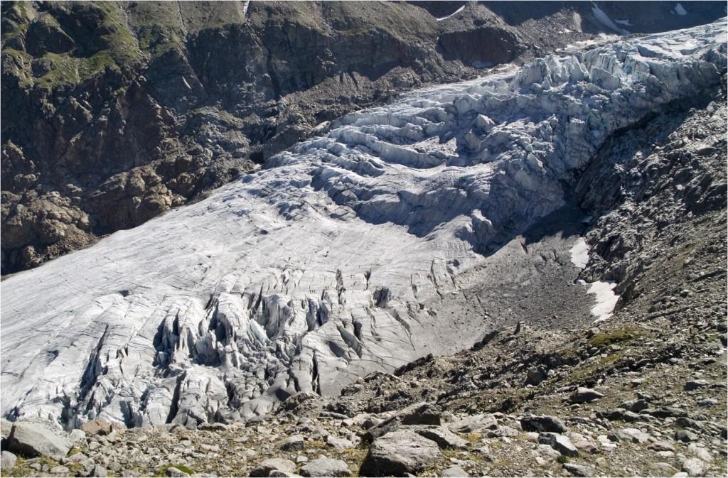 Gletscherzunge von oben