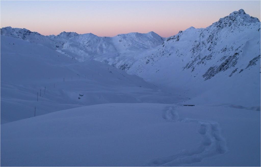 der Morgen und die Übersicht über unseren Aufstiegsweg