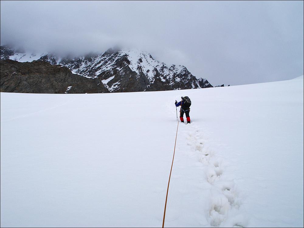 aber auch anstrengendes Spuren im aufgeweichten Schnee