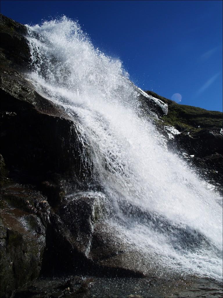 blauer Himmel, Wasserfälle...was will man mehr?
