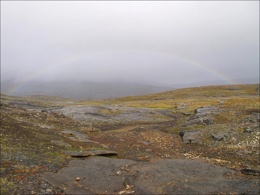 das einzige Bild des Tages, dafür mit Regenbogen