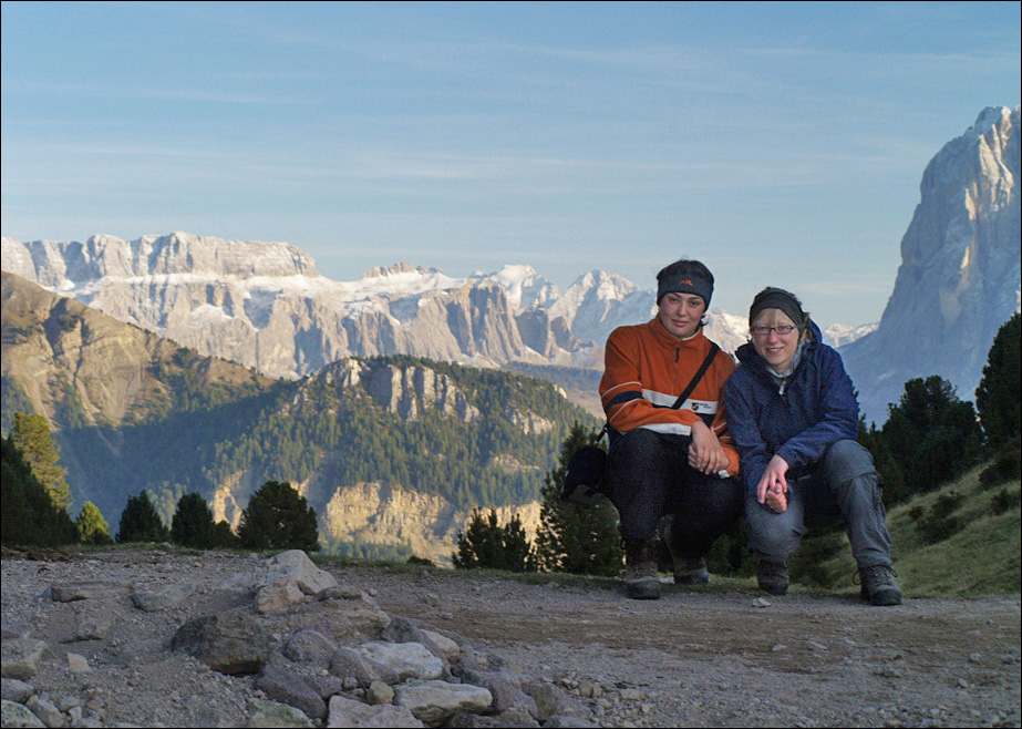 mit Julia in den Dolomiten