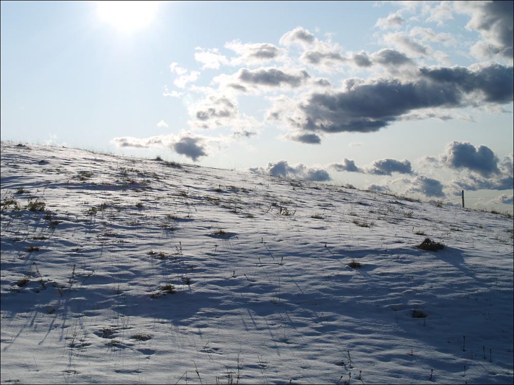 weiter oben im Schnee