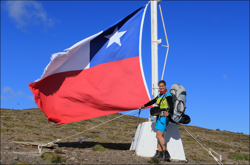 auf dem Cerro Bandera (Berg namens Flagge), Isla Navarino, Circuito de los Dientes (Foto: Frank N.)