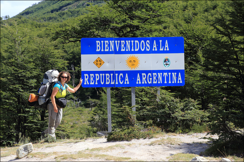 Grenzübergang bei Villa O`Higgins