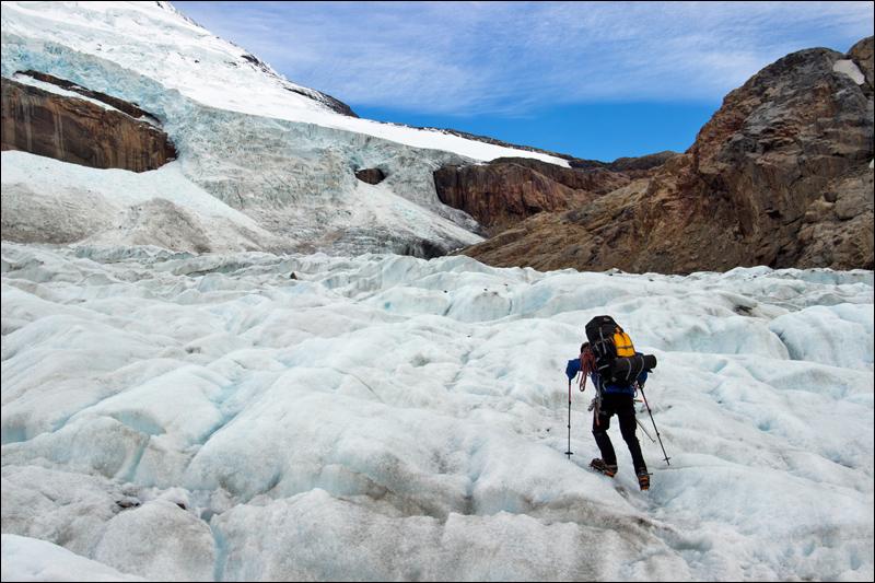 Aufstieg aufs südliche patagonische Inlandeisfeld über den Paso Marconi