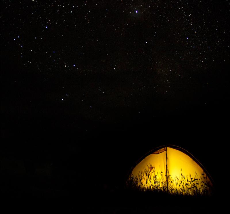 nachts im Campamento Seron, NP Torres del Paine
