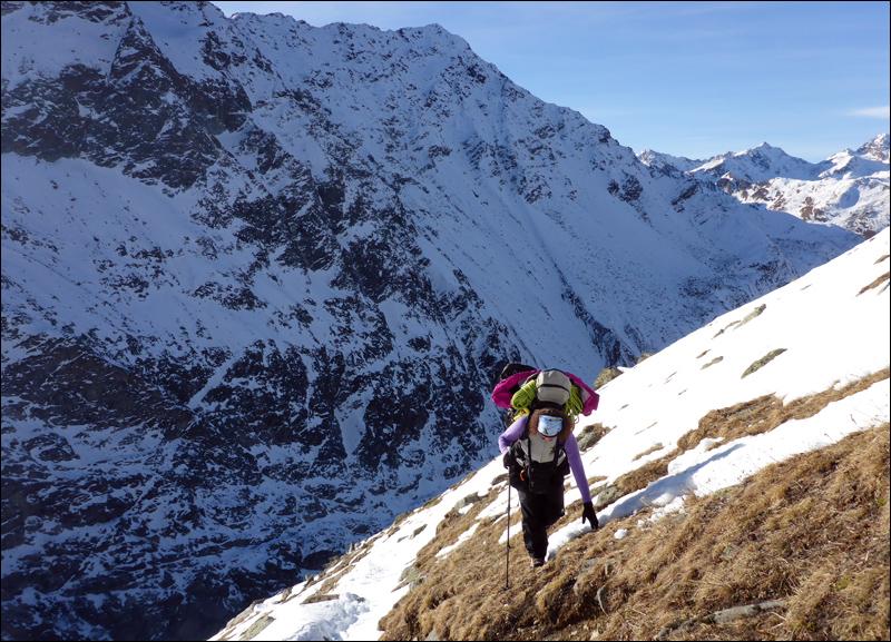 Zeltgespenst im Aufstieg. Foto: Monika