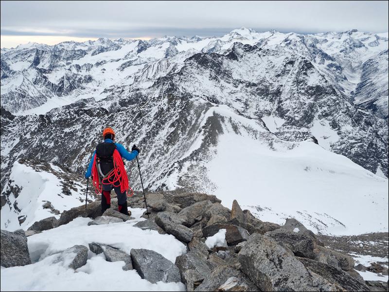 der Weg zurück beginnt am Gipfel...