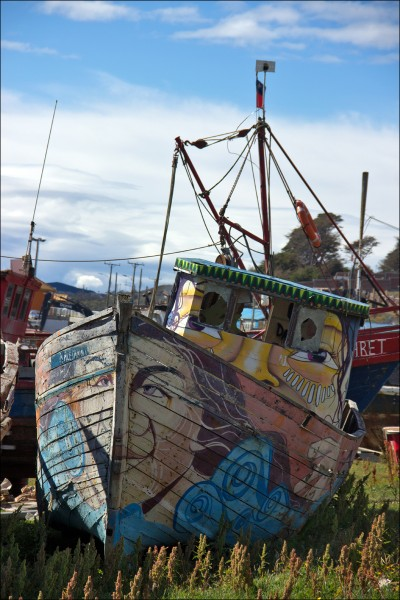 Boote in Puerto Williams